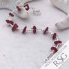 Regal Red Sea Glass and Sterling Silver Ocean Waves Bracelet