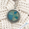 Yep, Three Pieces of Turquoise Sea Glass in One Locket!