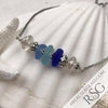 Shades of the Sea Sea Glass Adjustable Bracelet in Rich Blue & Aqua