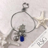 Cobalt Blue Sea Glass Adjustable Beach Bling Bracelet