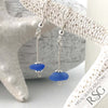 Cornflower Blue Sterling Silver Sea Spray Earrings