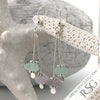 Sun Purple & Soft Blue Sterling Silver Sea Spray Earrings