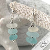 Hues of Aqua Sea Glass Sea Stack Earrings