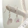 Rare Pink English Multi Sea Glass Earrings