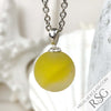 Yellow & Clear Fisheye Sea Glass Marble Pendant