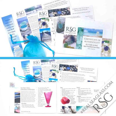 Real Sea Glass Certificate of Authenticity Guide to Real Sea Glass and Documentation Package