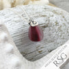 Vivid - and Rare - Banded Magenta English Multi Ocean Waves Sea Glass Pendant