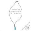 Triangle-Shaped True Black Bottle Bottom Sea Glass Leather and Genuine Pearl Surfside Necklace | #1429