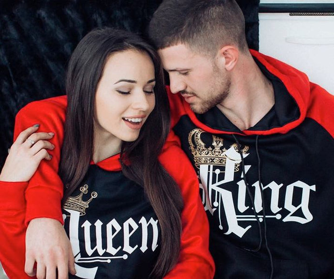 KING and Queen Couple Lovers Winter Pullovers