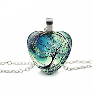 Divergent Heart Tree Necklace FREE SHIPPING