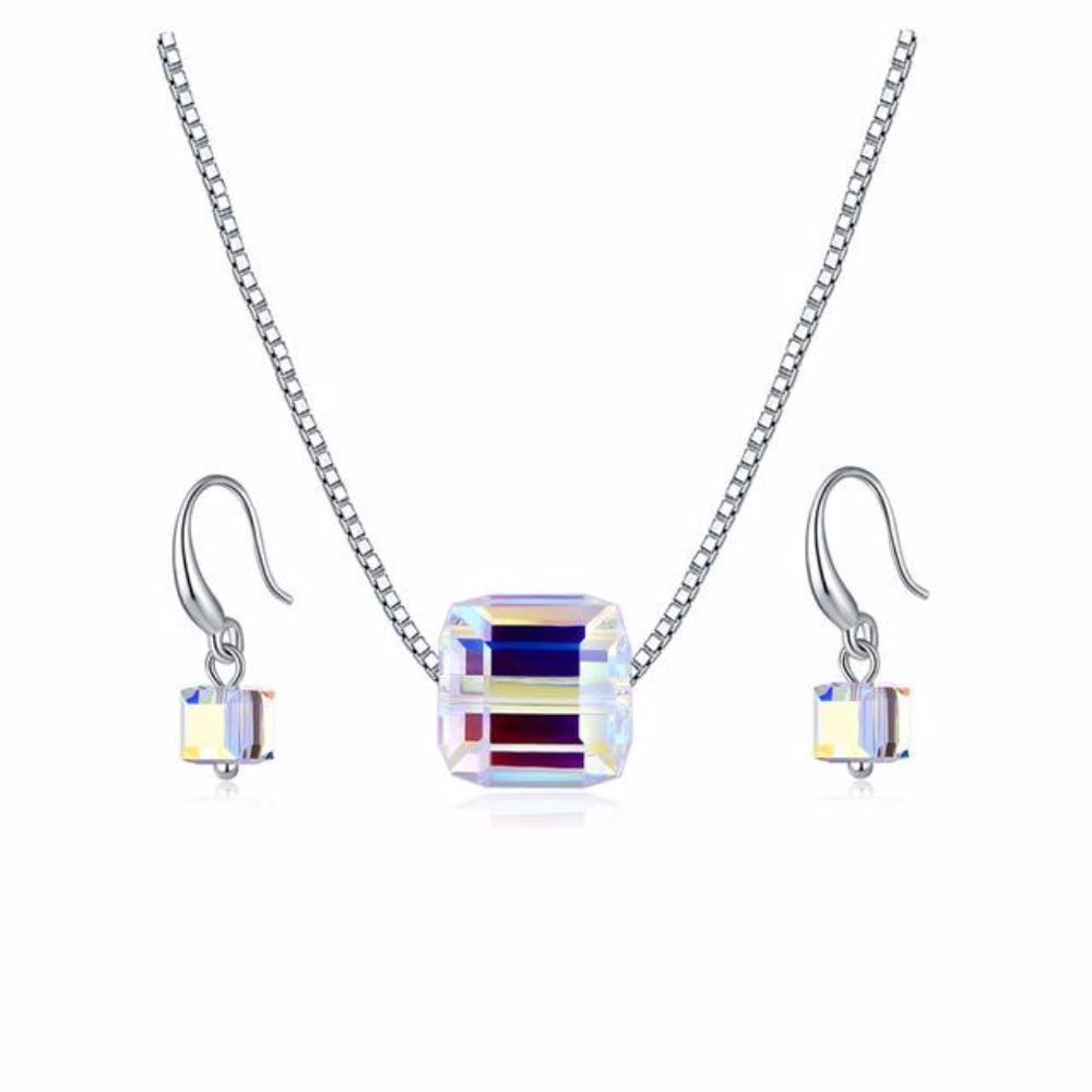 Cube Pendant + EARRINGS
