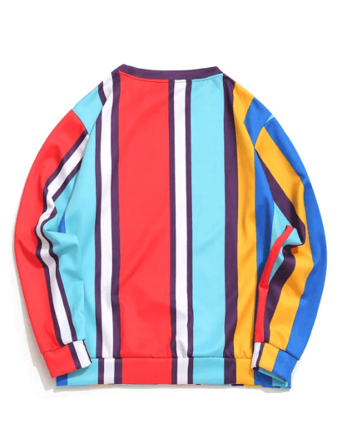 Vertical Striped Sweatshirt