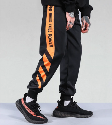 """Full Power"" Joggers Pants Orange 27 Streetwear Nova"