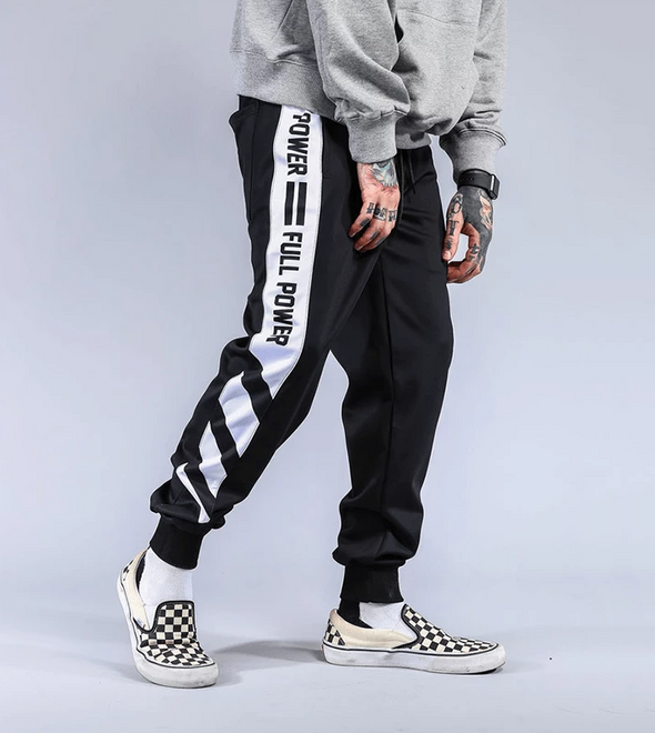 """Full Power"" Joggers Pants White 27 Streetwear Nova"