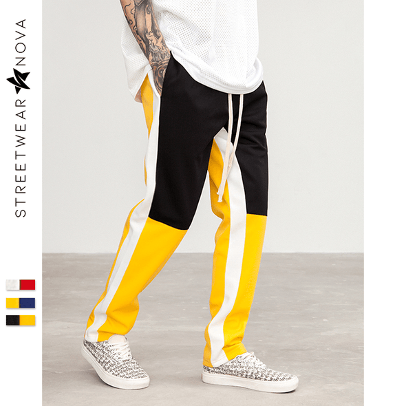 Retro Block Joggers Joggers black yellow 30 Streetwear Nova
