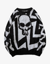 SKULL Sweater WHITE XL Streetwear Nova