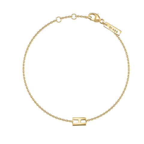 "H - Gold ""Letters with Love"" Buchstabenarmband "" 925er Sterlingsilber 18Kt vergoldet"