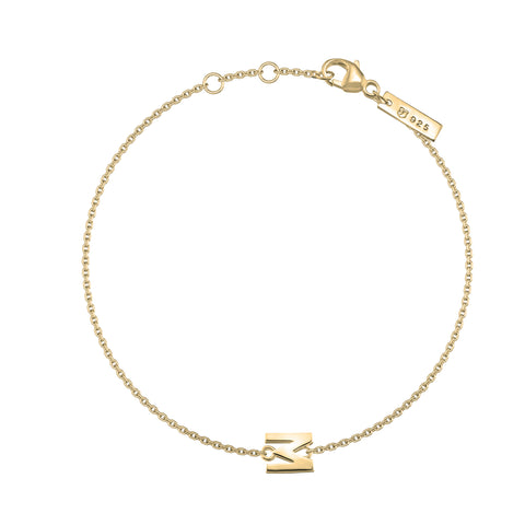 "M - Gold ""Letters with Love"" Buchstabenarmband "" 925er Sterlingsilber 18Kt vergoldet"