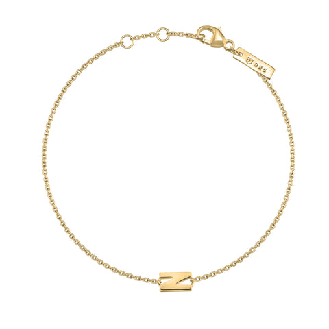 "N - Gold ""Letters with Love"" Buchstabenarmband "" 925er Sterlingsilber 18Kt vergoldet"