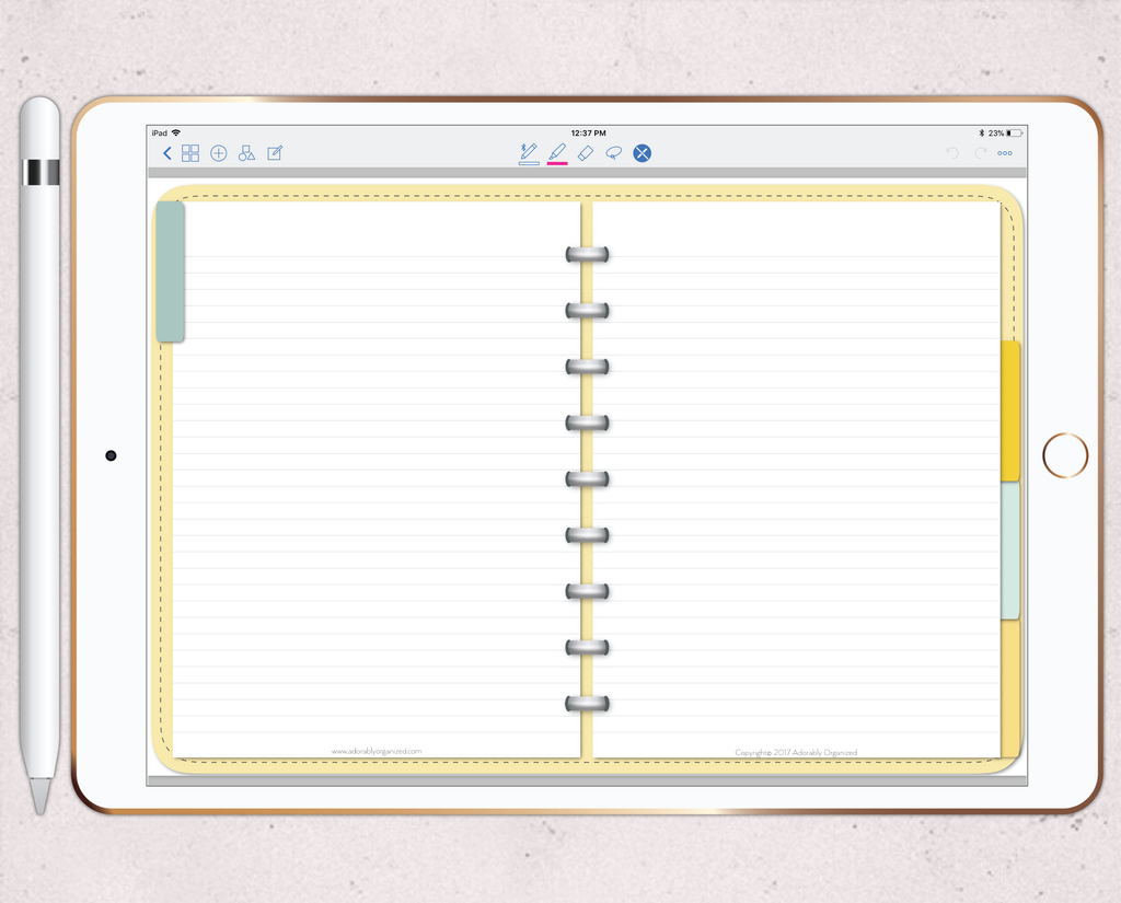photograph regarding Freebie Planner known as DigiPlanner for GoodNotes - FREEBIE/Try Record Adorably