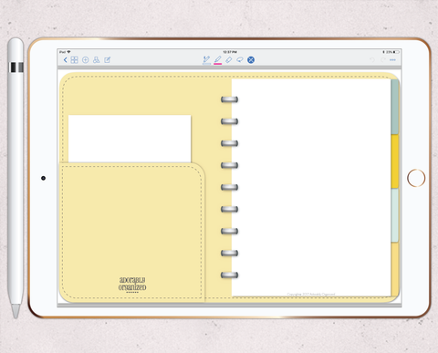 photo relating to Free Digital Planner Pdf titled Electronic Planners for iPad Adorably Ready
