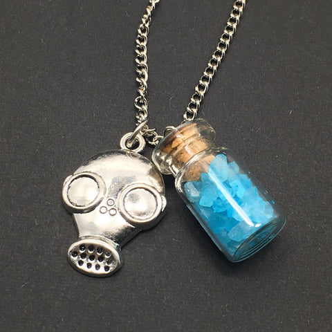 BB vial cork bottle necklace
