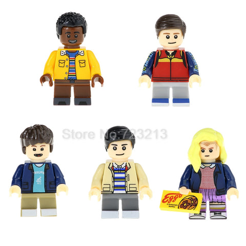 Stranger Things Figure Lucas Eleven Will Mike Dustin Building Blocks Lot Lego Compatible