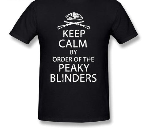 """KEEP CALM by Order of PEAKY BLINDERS"" Pure Cotton T Shirt"