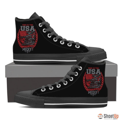 This Is The USA- Men's Canvas Shoes- Free Shipping