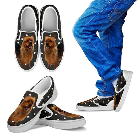 Cute Australian Terrier Print Slip Ons For Kids-Express Shipping
