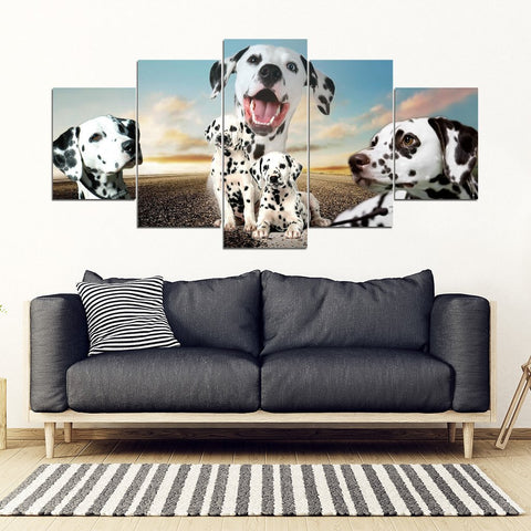 Dalmatian Dog Print- Piece Framed Canvas- Free Shipping