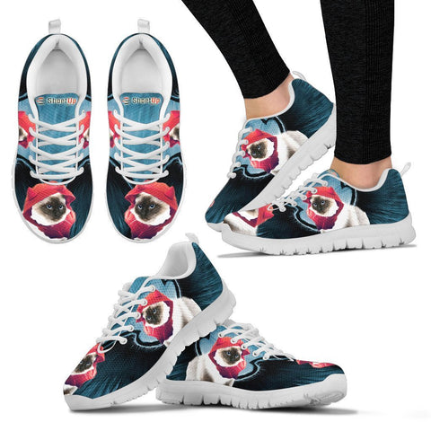 Birman Cat (Halloween) Print-Running Shoes For Women/Kids-Free Shipping
