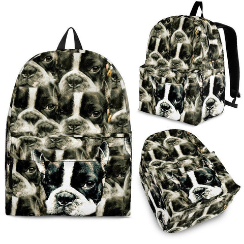 Boston Terrier Print Backpack- Express Shipping