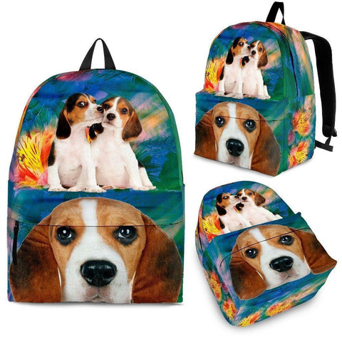 Beagle Dog Print Backpack-Express Shipping