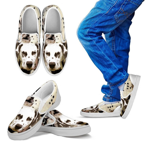 Dalmatian Dog Print Slip Ons For Kids- Express Shipping