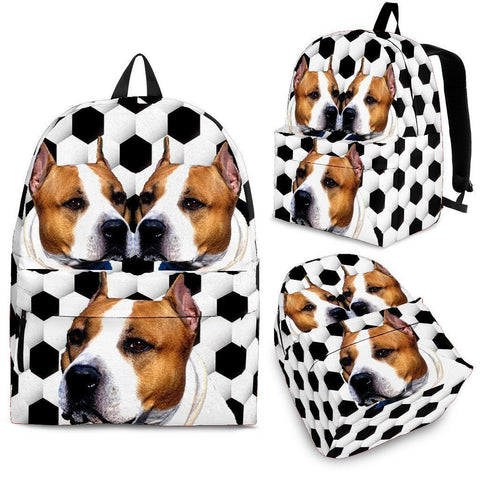 American Staffordshire Terrier Dog Print Backpack-Express Shipping