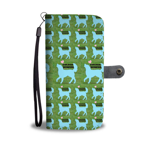 Golden Retriever Dog Pattern Print Wallet Case-Free Shipping