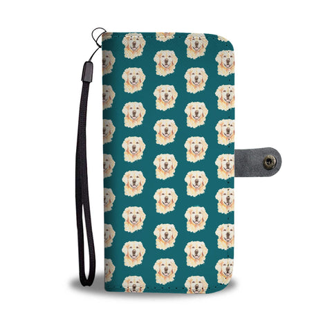 Golden Retriever Dog Pattern 2 Print Wallet Case-Free Shipping