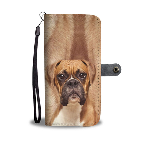 Boxer Dog Print Wallet Case-Free Shipping