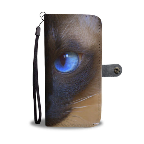 Siamese cat Print Wallet Case-Free Shipping