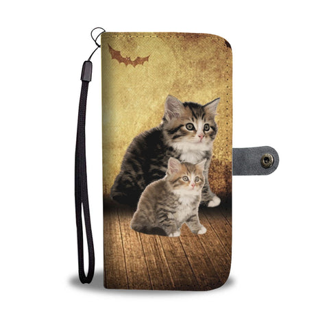 Siberian Cat Print Wallet Case-Free Shipping