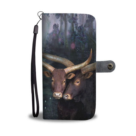 Ankole Watusi Cattle (Cow) Print Wallet Case-Free Shipping