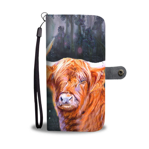 Highland Cattle (Cow) Print Wallet Case-Free Shipping