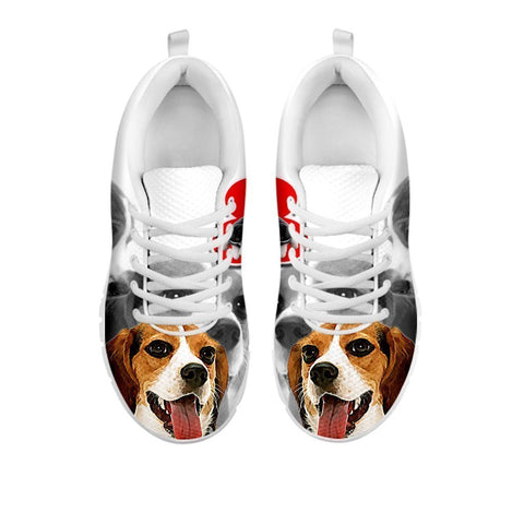 Amazing Beagle Print Running Shoes For Women-Free Shipping- For 24 Hours Only