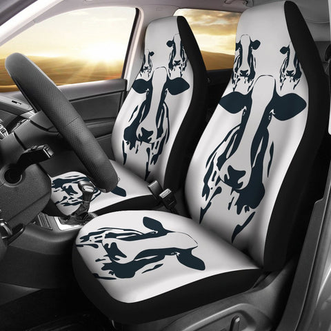 Lovely Cow Print Car Seat Covers-Free Shipping