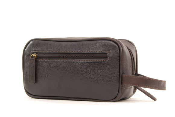ASHWOOD - Men's Wash Bag / Shaving Bag / Travel Toiletry Bag - Genuine Leather - CHELSEA 2080 - Brown