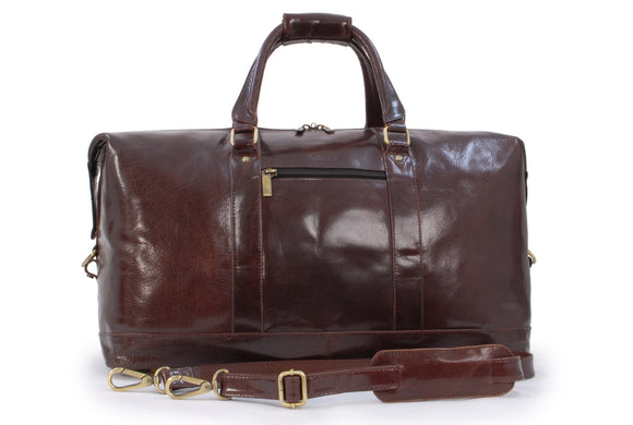 Ashwood Genuine Leather Holdall - Extra Large Overnight / Travel / Business / Weekend / Gym Sports Duffle Bag - 2081 - Cognac