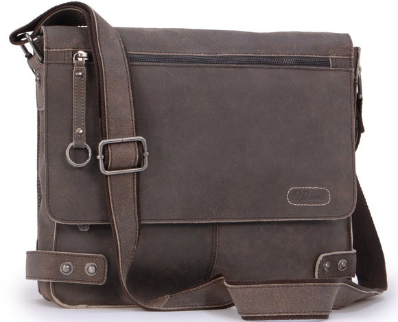 Ashwood Messenger Bag - Cross Body / Shoulder / Work Bag - Genuine Leather - HARRIS - CAMDEN 8354 - Brown