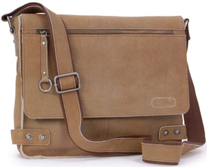 Ashwood Messenger Bag - Cross Body / Shoulder / Work Bag - Genuine Leather - HARRIS - CAMDEN 8354 - Tan