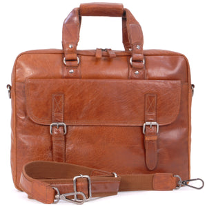 ASHWOOD - Soft Vintage Leather Briefcase Laptop Messenger Bag - F83 - Work Office College University - Honey(Tan)